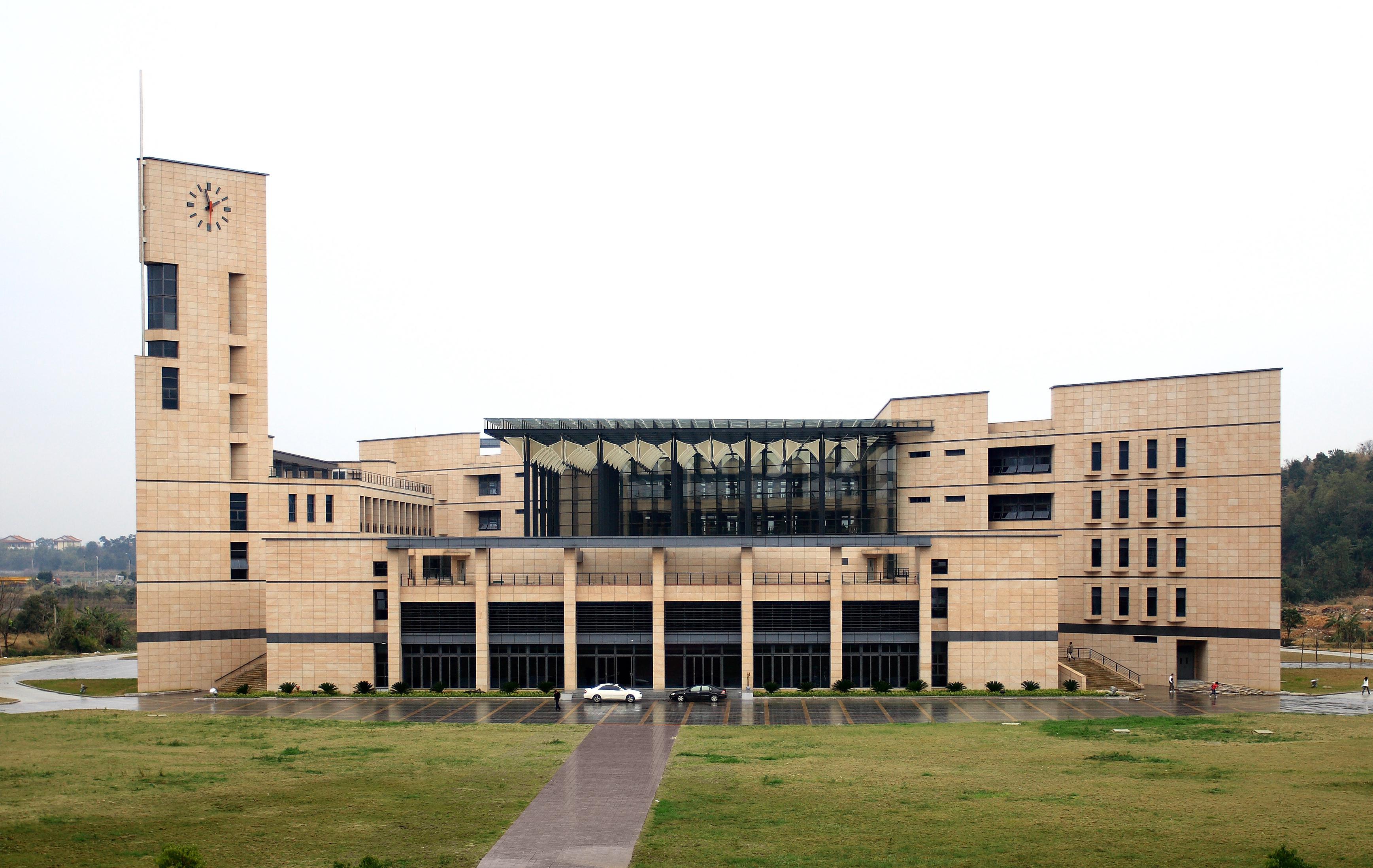 福州大学旗山校区图书馆新馆写真(图)图片